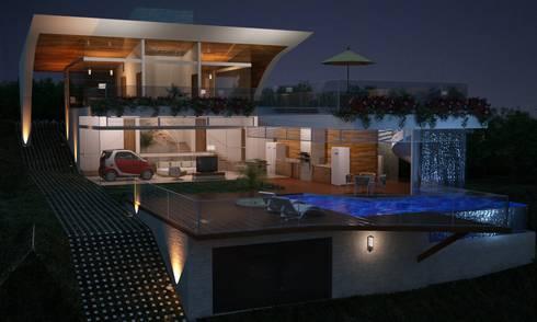 Casa W.A - Contagem - MG: Casas modernas por Vale Arquitetura