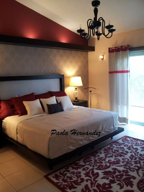 Recámaras: Recámaras de estilo moderno por Paola Hernandez Studio Comfort Design
