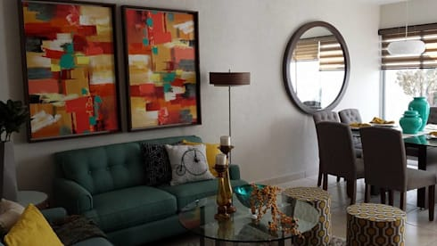 Oficina con área de juegos: Recámaras de estilo moderno por Paola Hernandez Studio Comfort Design