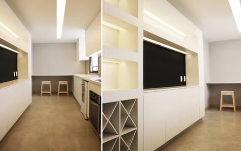 Casa da Barra: Cozinhas modernas por blaanc
