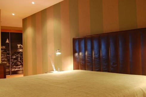 Bedroom details: Quartos ecléticos por Critério Arquitectos by Canteiro de Sousa