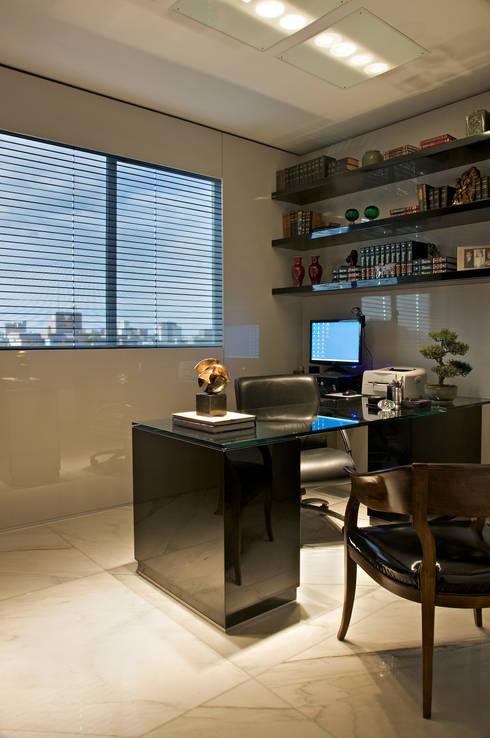 Cassio Gontijo Arquitetura e Decoração:  tarz Çalışma Odası