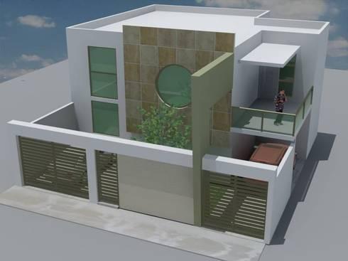 CASA RESIDENCIAL: Casas de estilo moderno por M4X