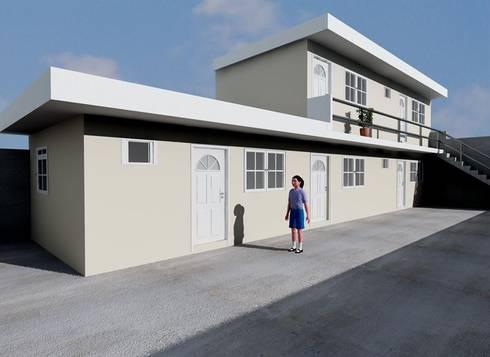 ANEXO DEPARTAMENTOS: Casas de estilo minimalista por M4X