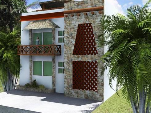 CASA RUSTICA: Casas de estilo topical por M4X