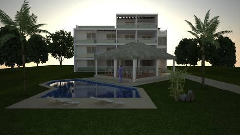 HOTEL: Casas de estilo moderno por M4X