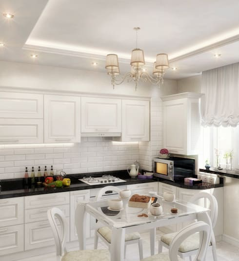 Cocinas de estilo  por Студия дизайна Interior Design IDEAS