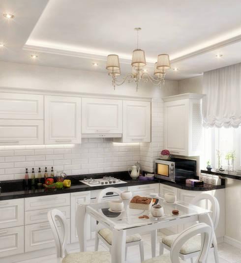 Cocinas de estilo moderno por Студия дизайна Interior Design IDEAS