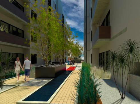 LAS TERRAZAS: Terrazas de estilo  por Villanueva Fernandez Arquitectos
