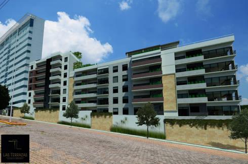 LAS TERRAZAS: Casas de estilo moderno por Villanueva Fernandez Arquitectos