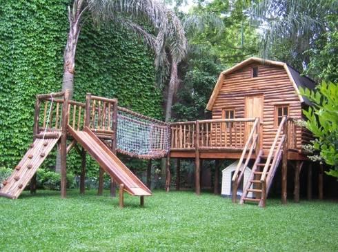 Juegos y casitas para ni os de juegos del bosque homify for Ahuyentar gatos del jardin