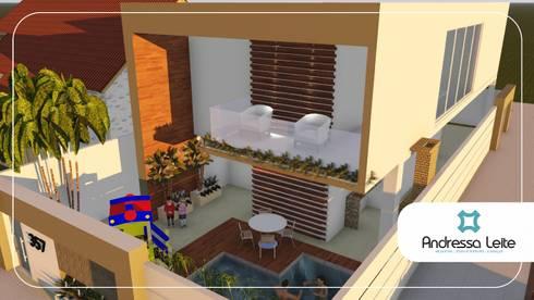 Reforma Ousada: Casas modernas por Andressa Leite Arquitetura e Iluminação