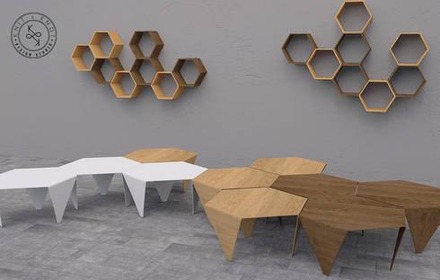 Knit & Knot Design Studio: Salas de estilo moderno por Knit&Knot Design Studio