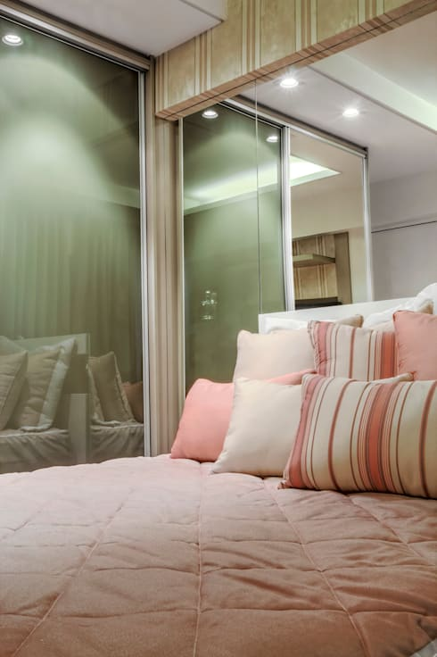 Apartemento am: Quartos  por M2A - Arquitetura e Eventos Ltda