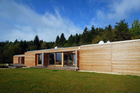 Holzhaus von architekt zoran bodrozic homify for Haus minimalistisch
