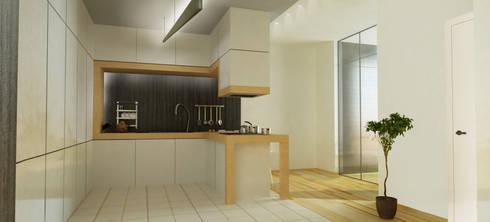 Casa N+V: Cozinhas minimalistas por GAUDIprojectos
