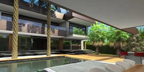 Área de Lazer: Casas tropicais por Simone Flores Arquitetos & Associados