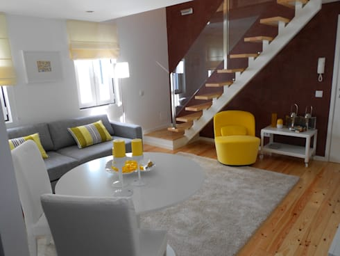Vista Geral: Salas de estar modernas por Interiores com alma