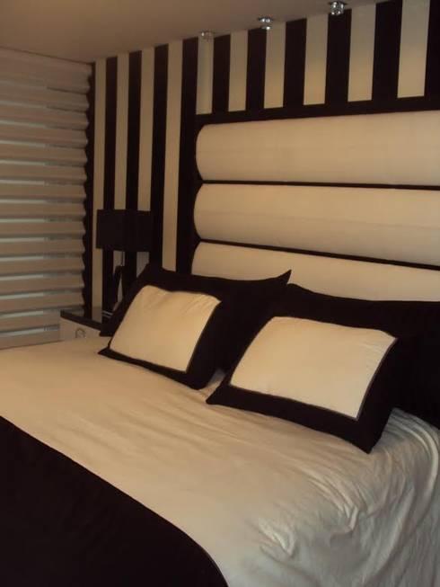 TRABAJO DE INTERIORISMO - Depto T: Dormitorios de estilo  por GMV ESTUDIO