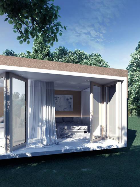 Cork House Concept : Casas rústicas por goodmood - Soluções de Habitação