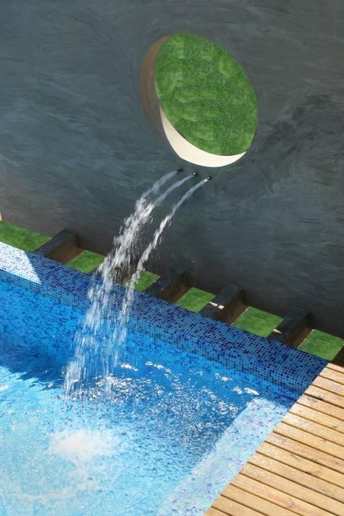 Casa Ecológica I: Piscinas rústicas por alexis vinícius arquitetura e design