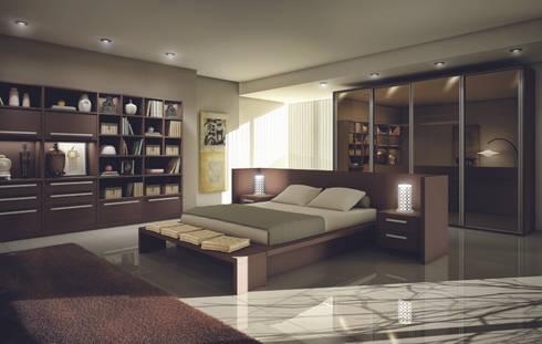 Dormitório : Quarto  por Fabrik Ambientes Planejados