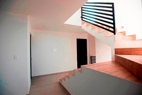 Pasilllos y Escaleras: Pasillos y recibidores de estilo  por JF ARQUITECTOS