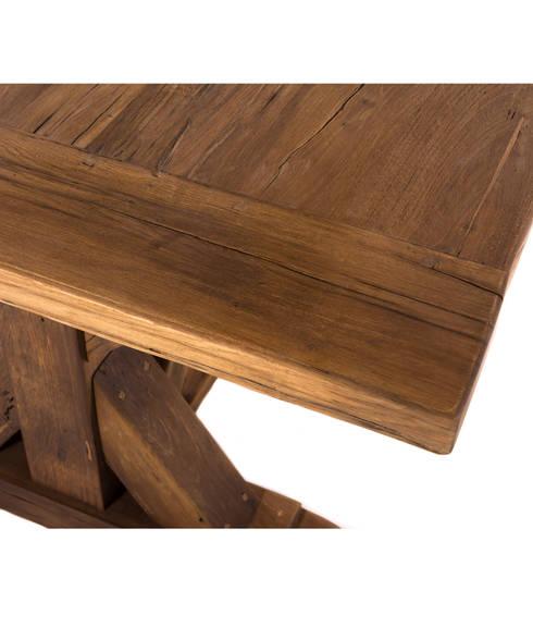 klostertisch locarno aus massivem eichenholz mit untergestell in kreuzform von woodzs homify. Black Bedroom Furniture Sets. Home Design Ideas