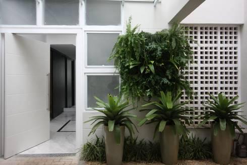Entrada Social: Jardins tropicais por HZ Paisagismo