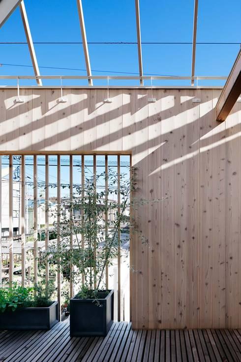駒沢の家: ディンプル建築設計事務所が手掛けたテラス・ベランダです。