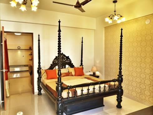 Master Bedroom: modern Bedroom by Nuvo Designs