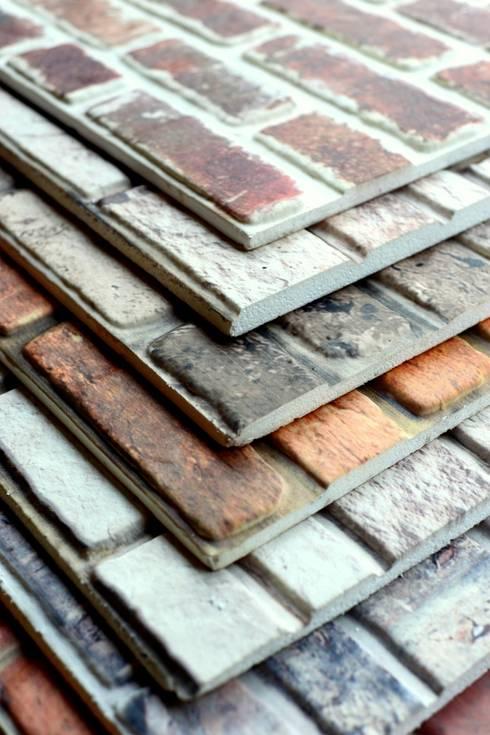 Delle Dekoratif Yapı Ürünleri San. Tic. Ltd. Şti. –  DIY Easy Strotex 3d brick and stone wall panels:  tarz Duvar & Zemin
