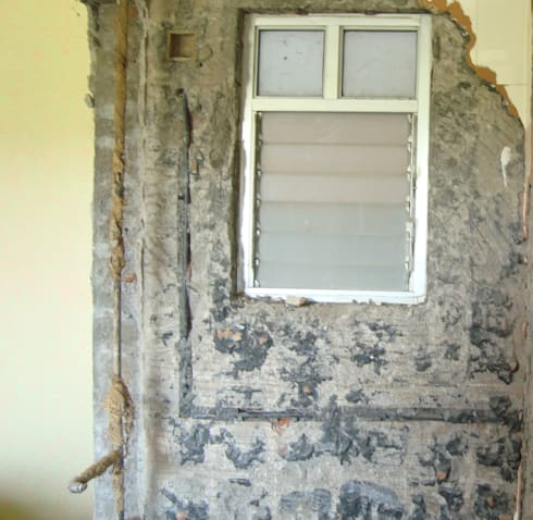 The Bathroom Ventilator- Before:   by Sthaptya Vishwa Project Consultants