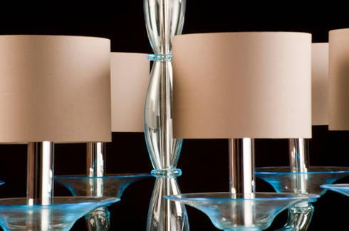 Lampadario in vetro di murano lampadario moderno in for Foscarini lampadari