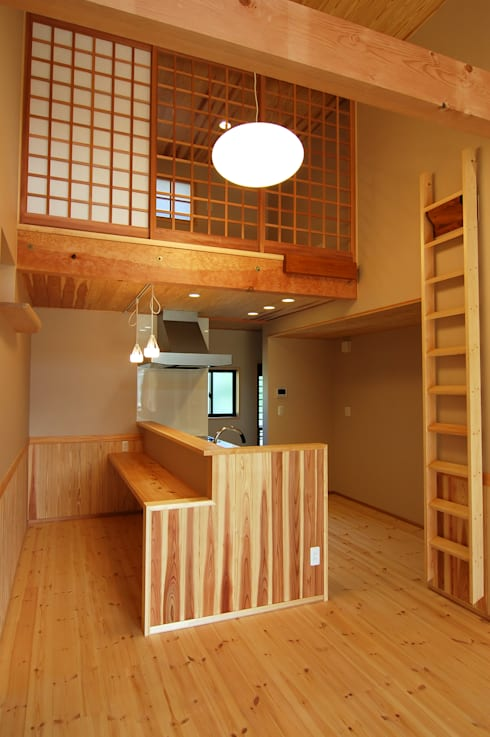 Cozinhas asiáticas por 今村建築一級建築士事務所