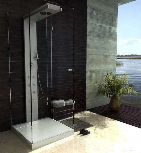 AQUAGLASS: modern tarz Banyo