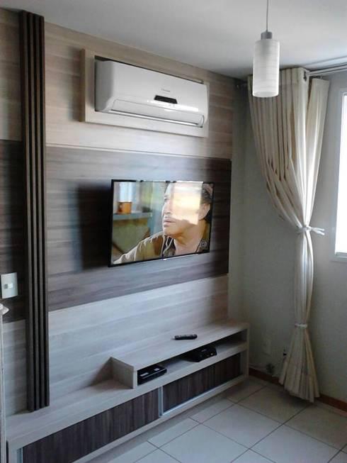 Closet Prestige: Salas de estar modernas por Prestige Móveis Planejados