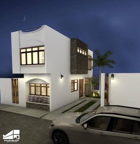 Casa Habitación Lomas Bonitas: Casas de estilo moderno por Habitad Diseño y Construccion