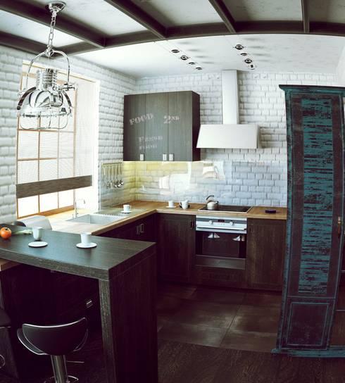 Квартира на Ярославском: Кухни в . Автор – Valeria Ganina