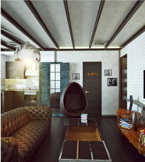 Квартира на Ярославском: Гостиная в . Автор – Valeria Ganina