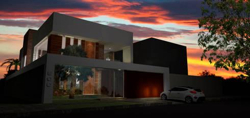 Casa em Poços de Caldas: Casas campestres por Futura Arquitetos Associados