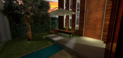 Casa em Poços de Caldas: Salas de estar campestres por Futura Arquitetos Associados