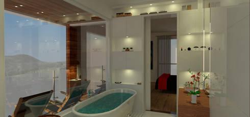 Casa em Poços de Caldas: Banheiros campestres por Futura Arquitetos Associados