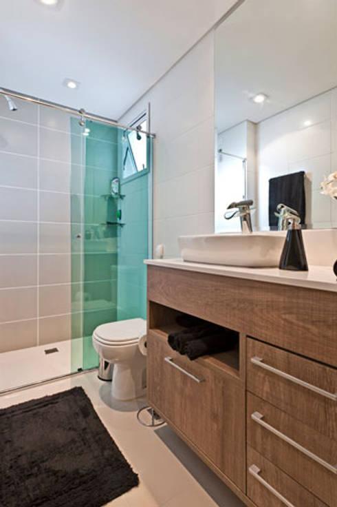 projeto: Banheiros modernos por MARIANA PAULA SOUZA ARQUITETURA