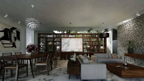 Casa Ortiz: Comedores de estilo moderno por TNGNT arquitectos