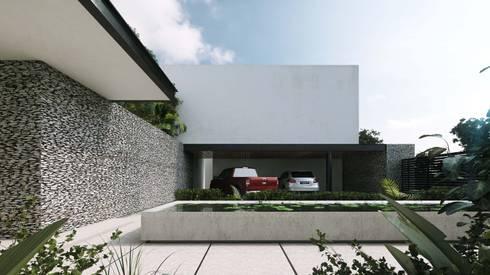 Casa Ortiz: Casas de estilo moderno por TNGNT arquitectos