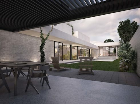 Casa Silveira: Jardines de estilo moderno por TNGNT arquitectos