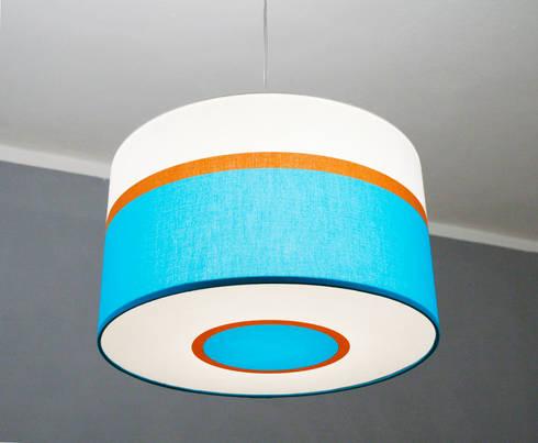 retro designerlampe in blau t rkis braun und wei por lichtwurf homify. Black Bedroom Furniture Sets. Home Design Ideas