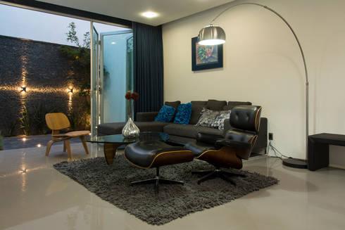 Casas Trapecio: Salas de estilo moderno por INDICO