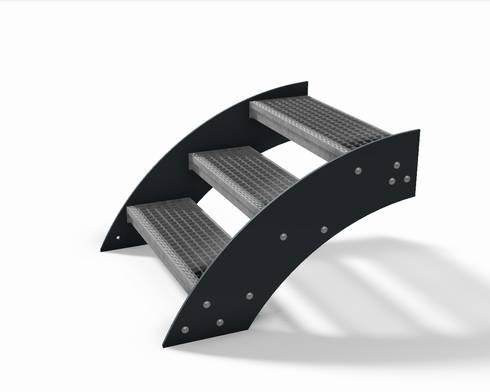Design treppe aussentreppe gartentreppe von thorwa metalltechnik ...